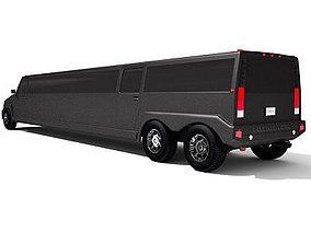 Black Hummer Limousine 3D model