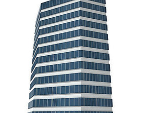 3D asset Tall Glass Building 118