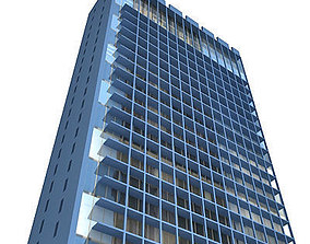 3D asset City Glass Building 117
