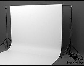 3D Professional photo studio backdrop