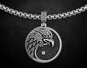 Pendant with an eagle yin yang 153 3D printable model