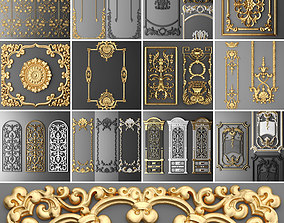 3D model Collection stucco molding frame 2