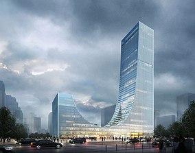 skyscraper road Architecture 3D