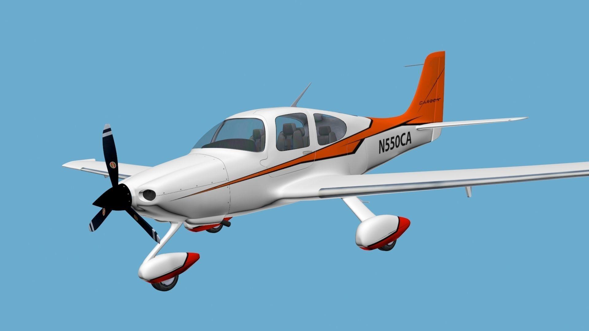 Cirrus Sr-22 airplane high detailed