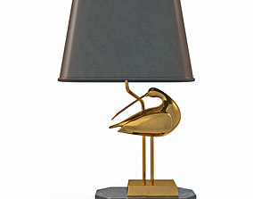 Table lamp with a bird 3D