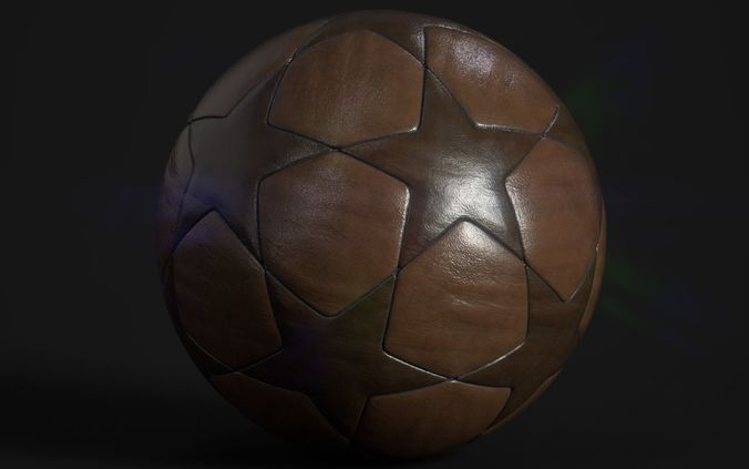 soccer ball 3d model low-poly max obj 3ds fbx 1