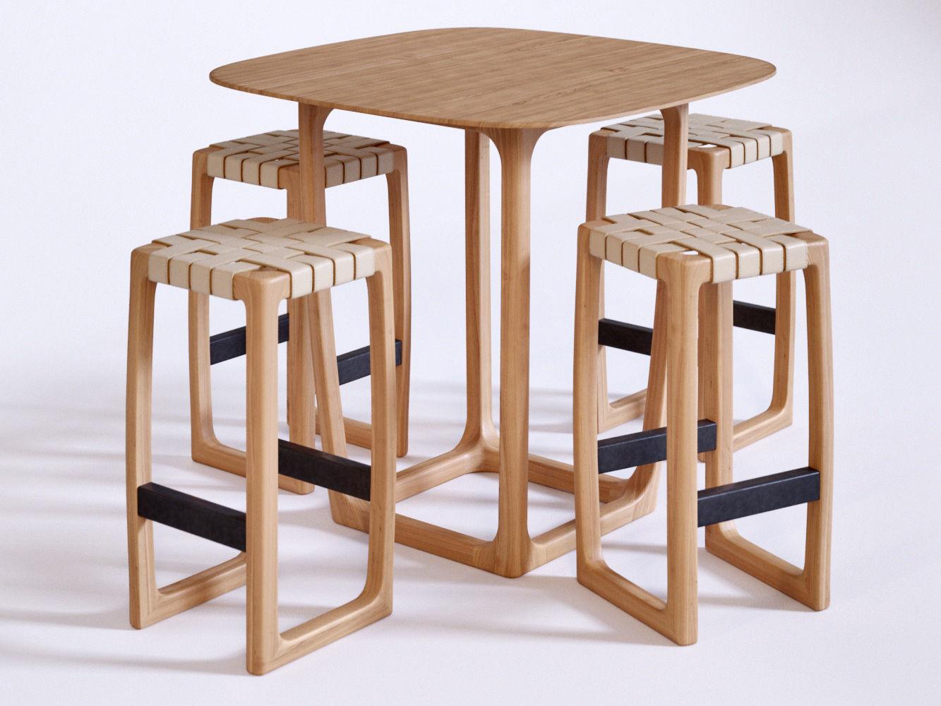 usona furniture. Usona Bar Set 3d Model Low-poly Max Obj 1 Furniture O