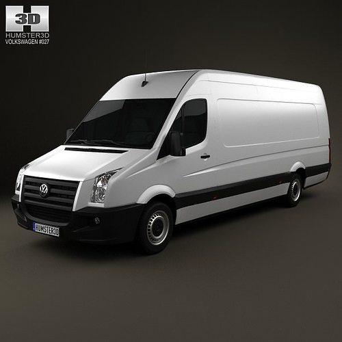 volkswagen crafter extralong wb shr 2011 3d model max obj 3ds fbx c4d lwo lw lws 1