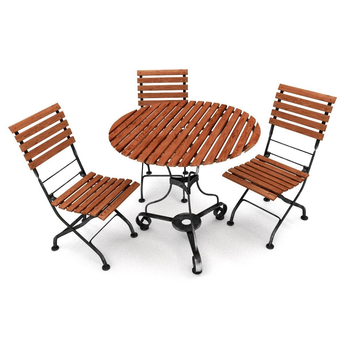Charmant Garden Furniture Set 3d Model Obj Fbx Blend 1 ...