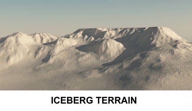 3d terrain iceberg 3d model obj mtl 3ds c4d lwo lw lws 1