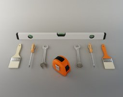 3D model Hardware Tools Collection