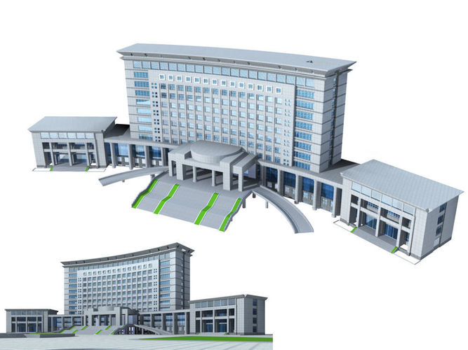 16 Office Building Collection 3d Model Max