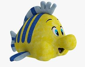 Soft Toy Flounder 3D model