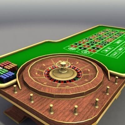 3D model Casino Roulette Table VR / AR / low-poly MAX OBJ