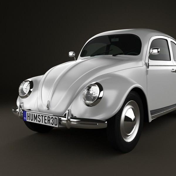 Volkswagen Beetle 1949 3d Model Max Obj 3ds Fbx C4d Lwo Lw Lws 4