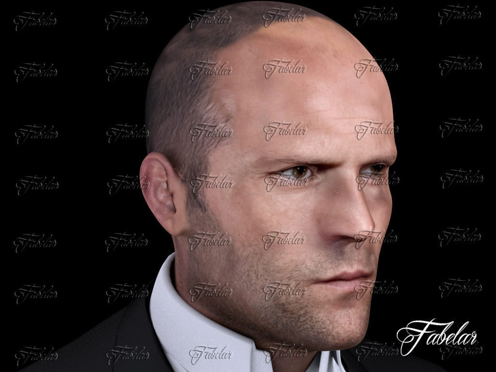 Jason Statham Printable 3D Model 3D printable STL ...