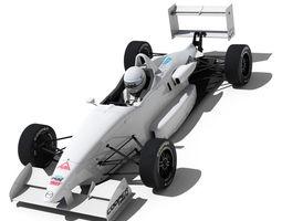 USF 2000 Formula Race Car 3D Model