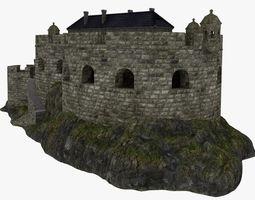 Coastal defense fort 3D