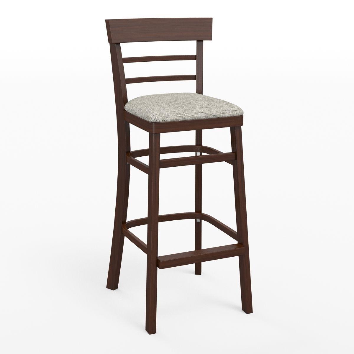 Wooden bar chair - Wooden Bar Stool 3d Model Max Obj Fbx 1