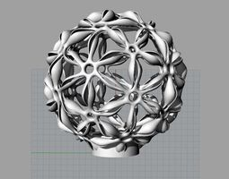 3d printable model flower lampshade