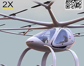 3D asset Volocopter FULLY ELECTRIC AND SAFE VTOL