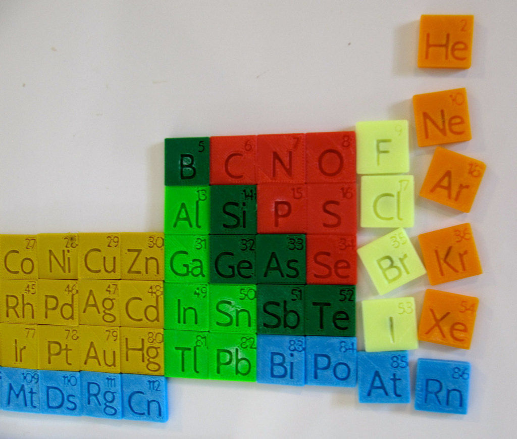 3d print model periodic table magnet set cgtrader periodic table magnet set 3d model stl 3 gamestrikefo Choice Image
