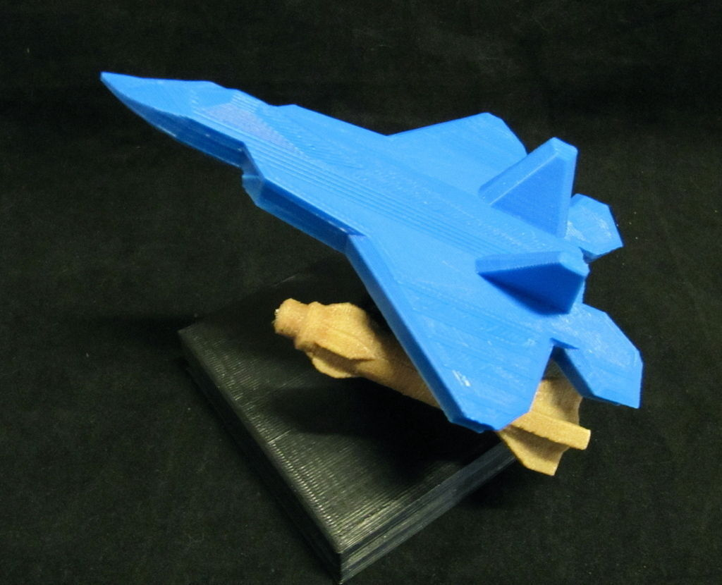F 22 Raptor Jet With Display Stand Removable Missiles 3d Model Stl Blend 2