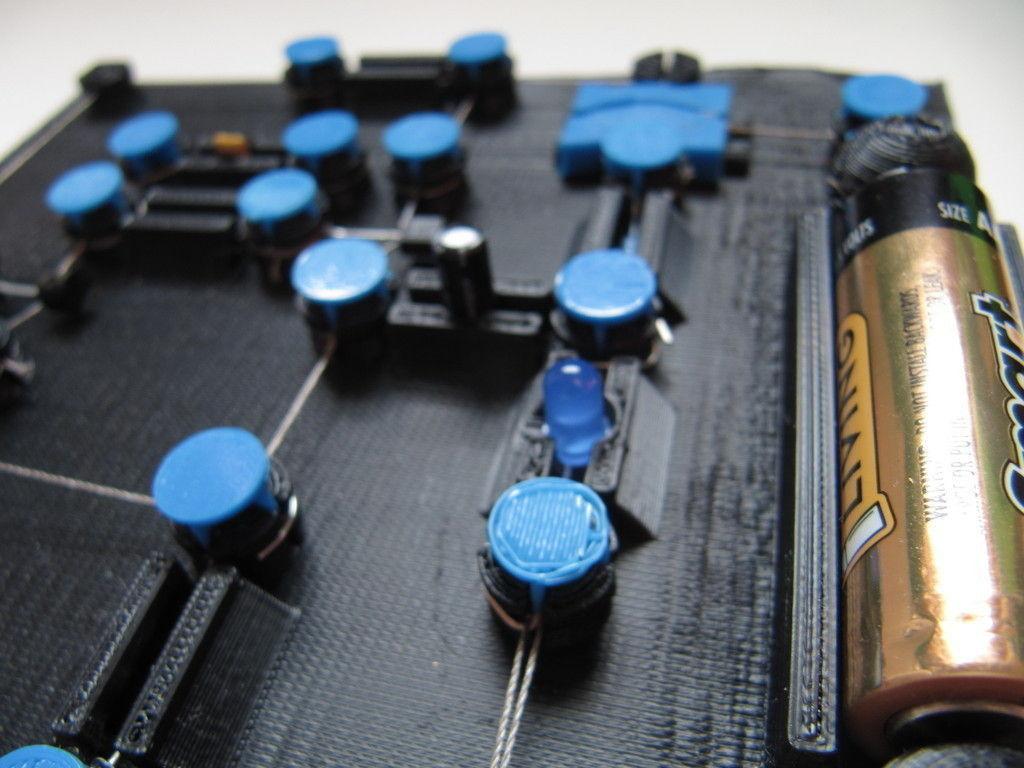 3d Printed Circuit Board V0 2 Cgtrader Image Model Stl