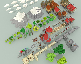 3D asset Medieval City Pack