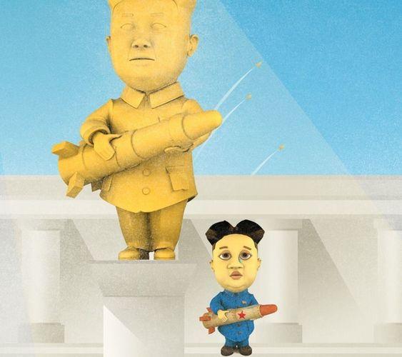 lonely kim 3d cartoon character of kim jong un 3d model max wrl wrz 1
