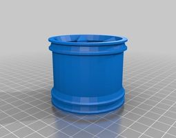 3d printable model rims for rc10t2 1 10 scale rc stadium truck