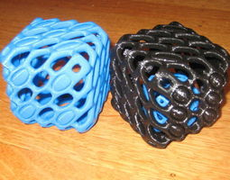 3D print model Hollow 6-Sided Dice with Support