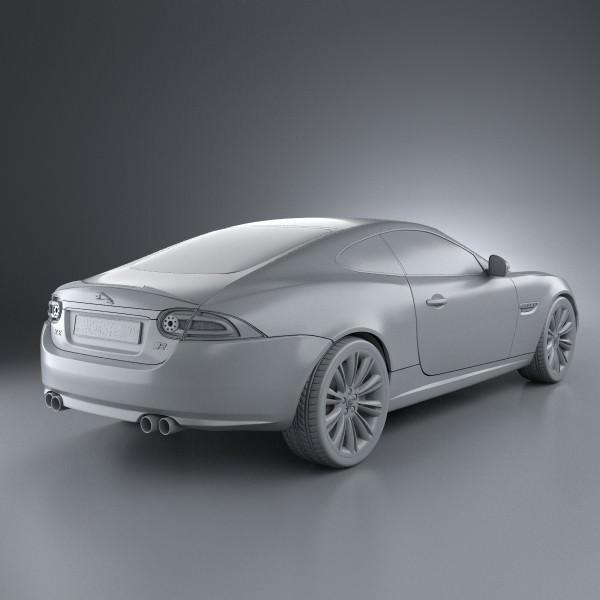 Jaguar XK-R X150 2012 3D Model MAX OBJ 3DS FBX C4D LWO LW ...