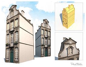 3D asset Buildings Facade 181 Low Poly