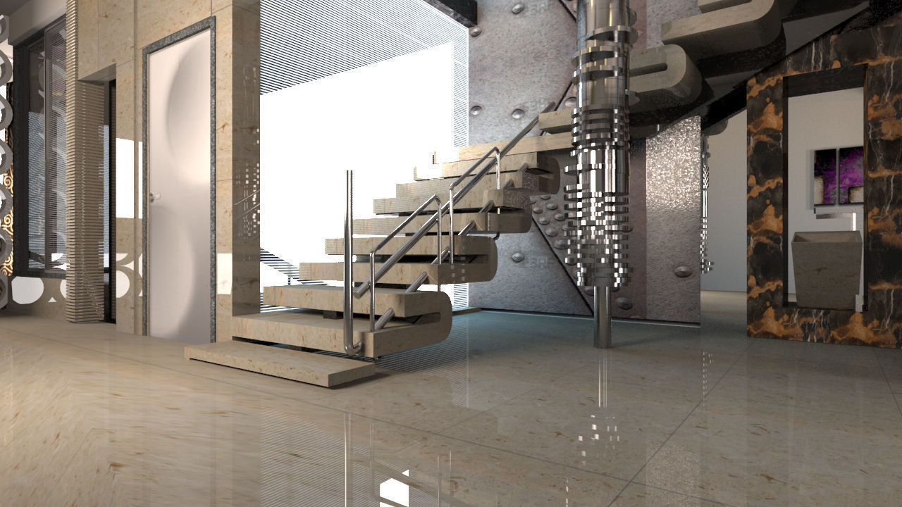 ... Architectural Staircase 3d Model Max 3ds 2 ...
