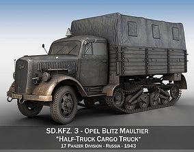 Opel Blitz Maultier - Half-Truck Cargo truck - 17 3D model