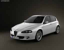 3D model Alfa Romeo 147 5-door 2009