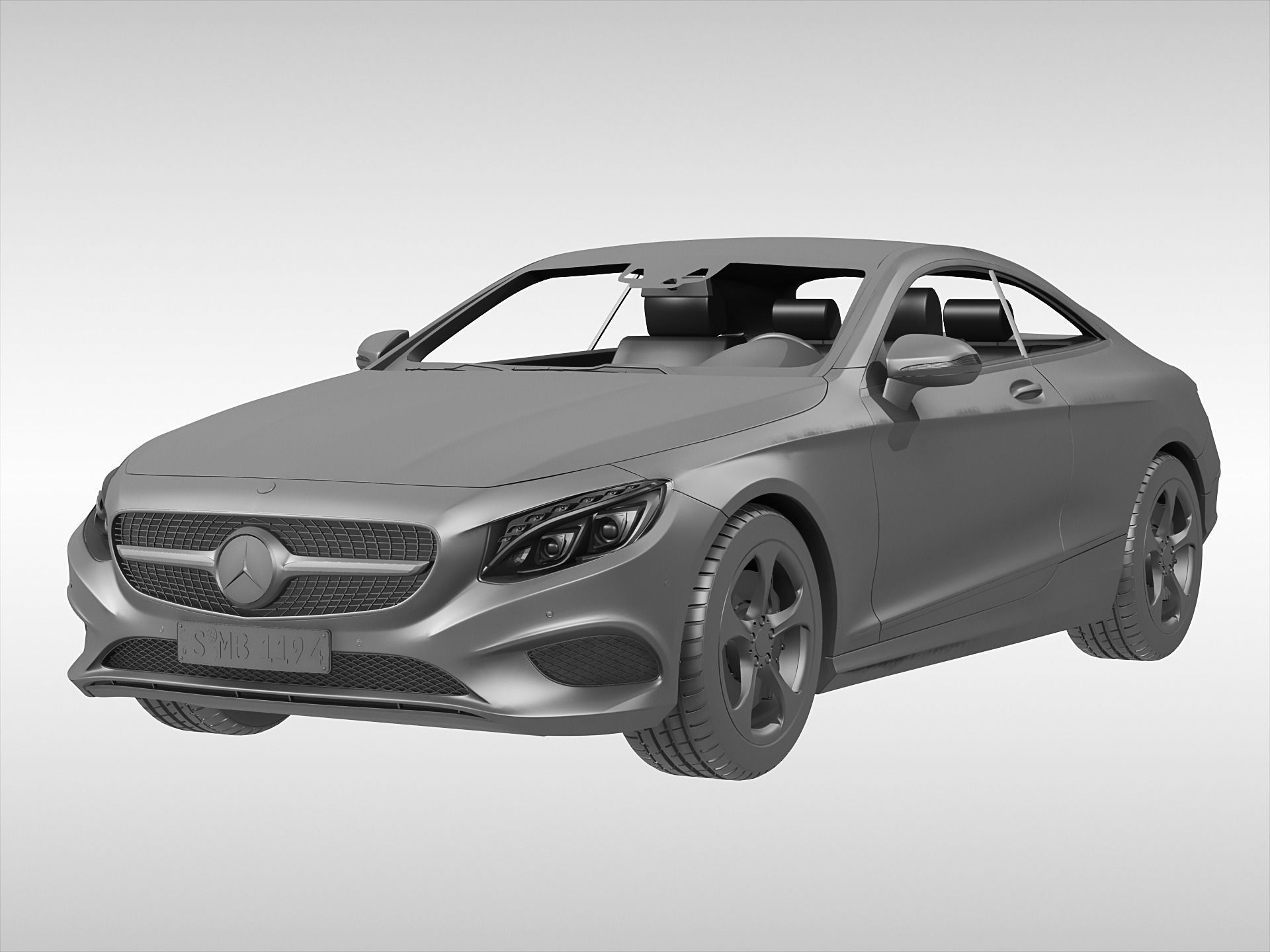 3d model mercedes benz s class coupe 2015 | cgtrader