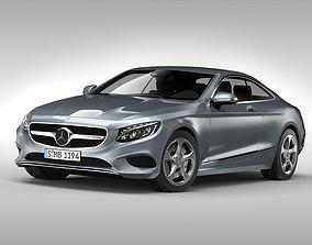 3D model Mercedes Benz S Class Coupe 2015