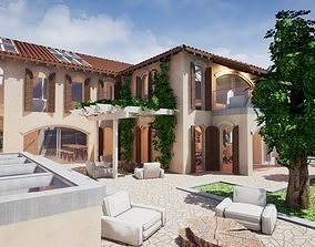 3D model Spanish Modern Modular Villa Assets - Complete 1