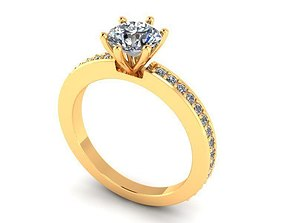 Solitaire Ring R0010 3D printable model