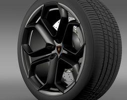 3d lamborghini aventador wheel