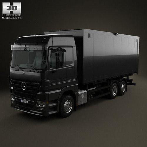 Mercedes Benz Actros Box Truck 2002 Model