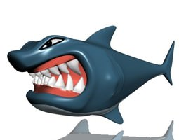 rigged 3d asset hungry shark