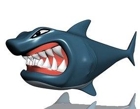 3D asset Hungry shark