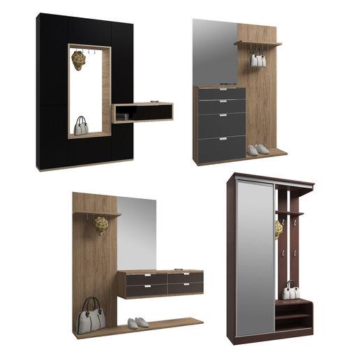 set of hallway furniture 3d model max fbx 1