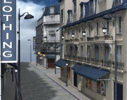 3D European Street for Poser