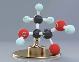 Lactic Acid Molecule 3D print model