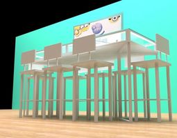 test table 3D model