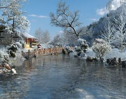 Winter snow 3D